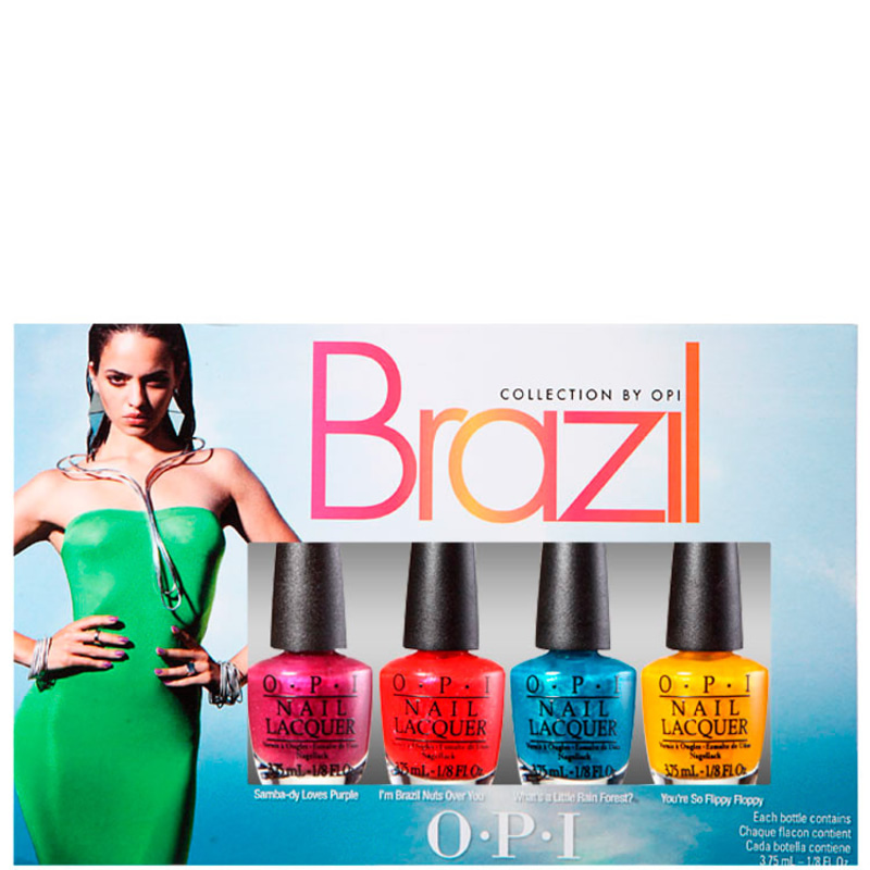 Kit OPI Brazil Collection Beachsandies de Esmaltes (4 miniaturas)