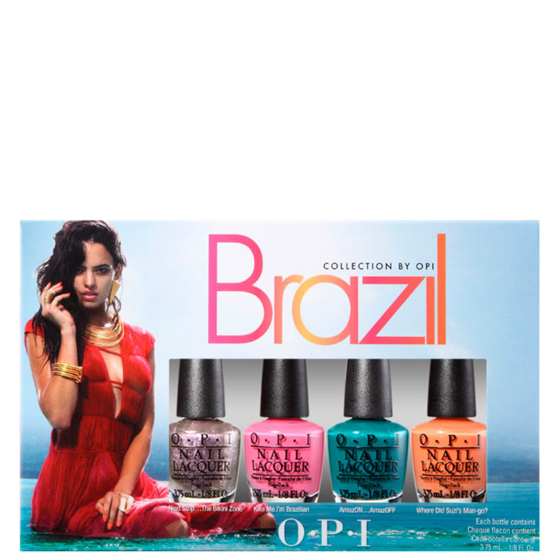 Kit OPI Brazil Collection Copacababies de Esmaltes (4 miniaturas)