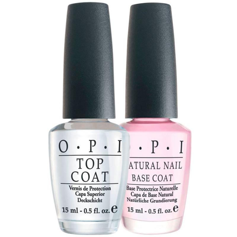OPI Natural Nail Base Coat + Ds Top Coat Kit (2 Produtos)