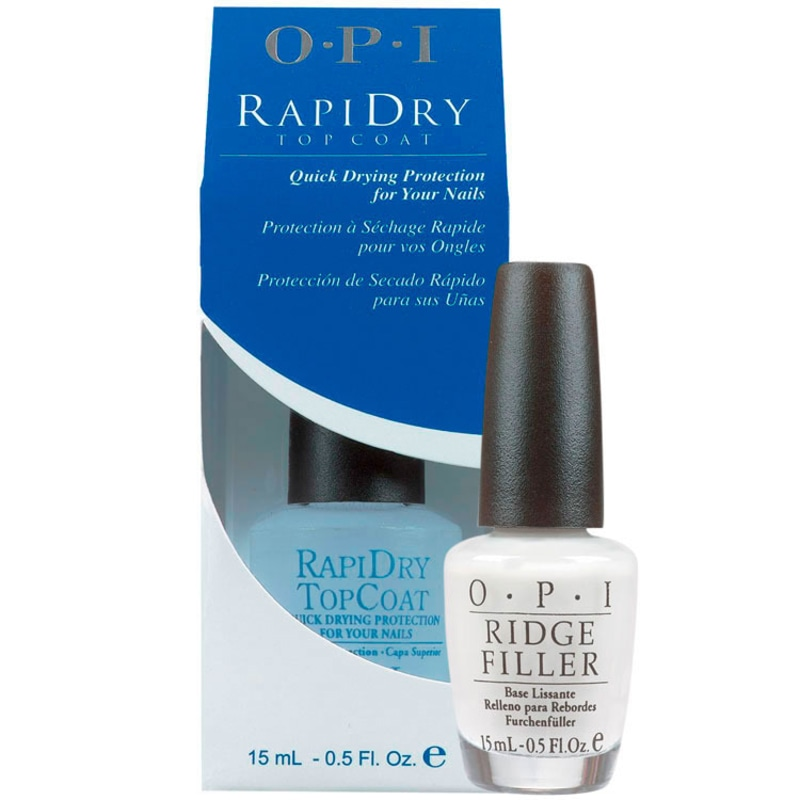 OPI Ridge Filler e Rapidry Top Coat Kit (2 Produtos)