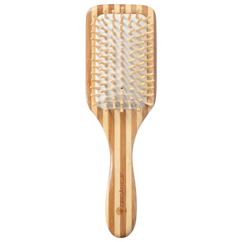 Orgânica Bambu Quadrada - Escova de Cabelo