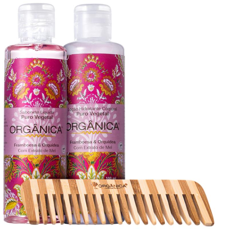 Kit Orgânica Set Framboesa e Orquídea (3 produtos)