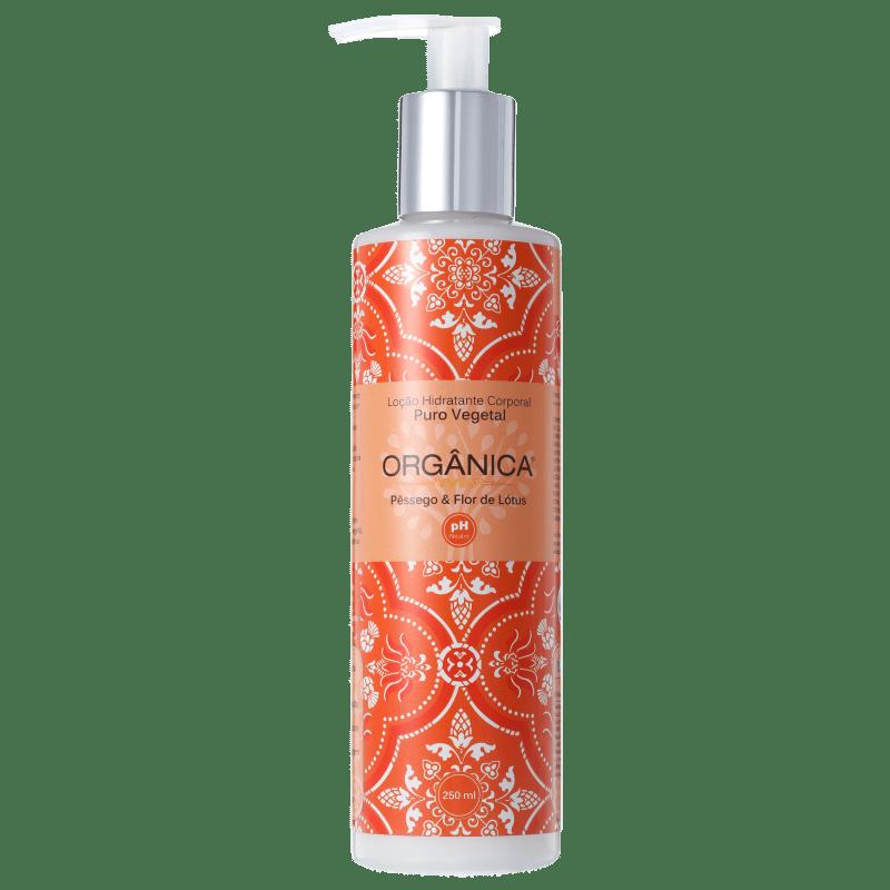 Orgânica Puro Vegetal Pêssego e Flor de Lótus - Loção Hidratante Corporal 250ml