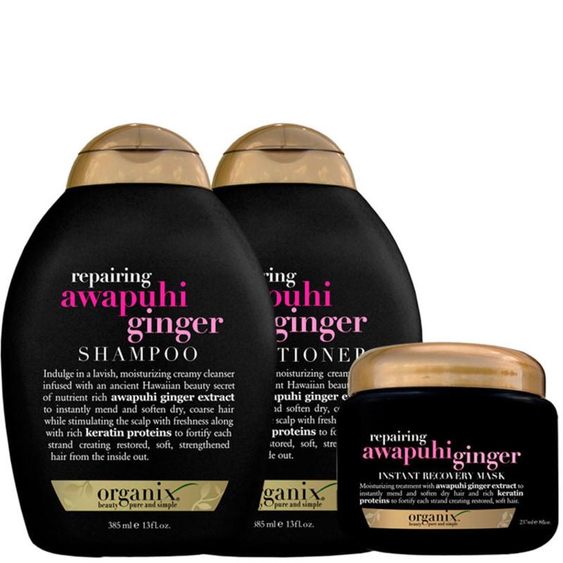 Organix Awapuhi Ginger Instant Kit (3 Produtos)