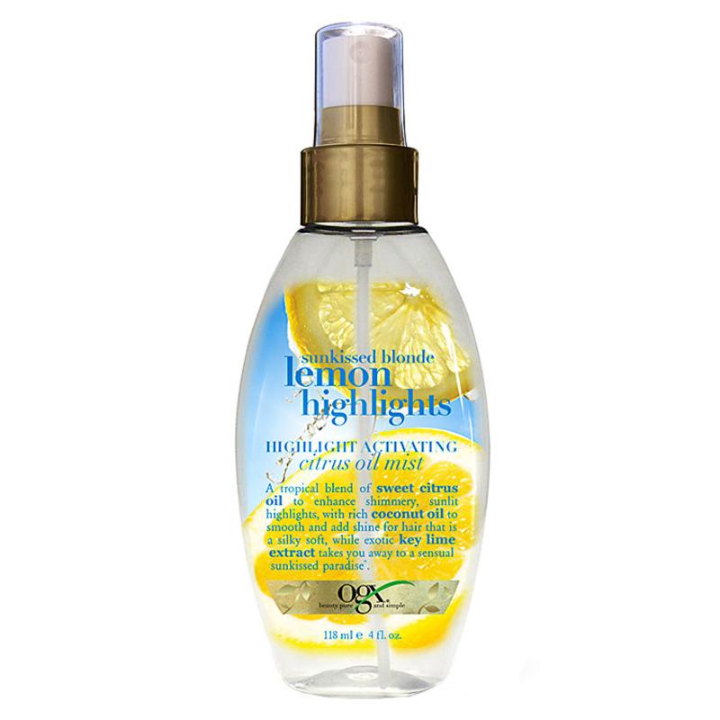 Organix Lemon Highlights Hightlight Activating Citrus Oil Mist - Óleo Finalizador 118ml