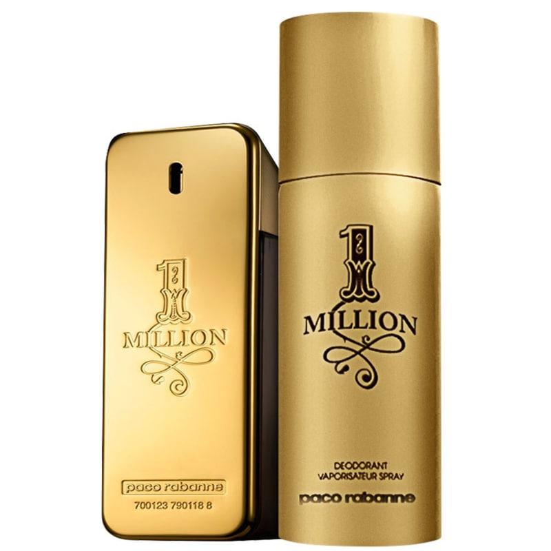 Conjunto 1 Million Paco Rabanne Masculino - Eau de Toilette 50 ml + Desodorante 150 ml