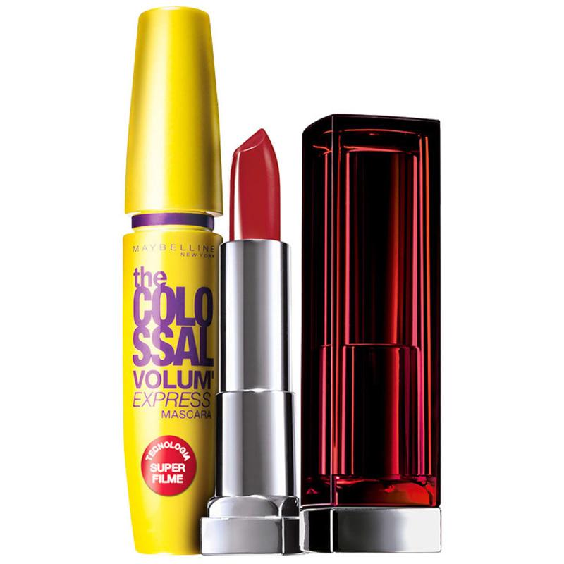 Kit Maybelline The Colossal Color Sensational Vermelho (2 produtos)