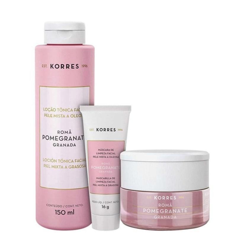 Kit Korres Pomegranate Skin Care (3 produtos)