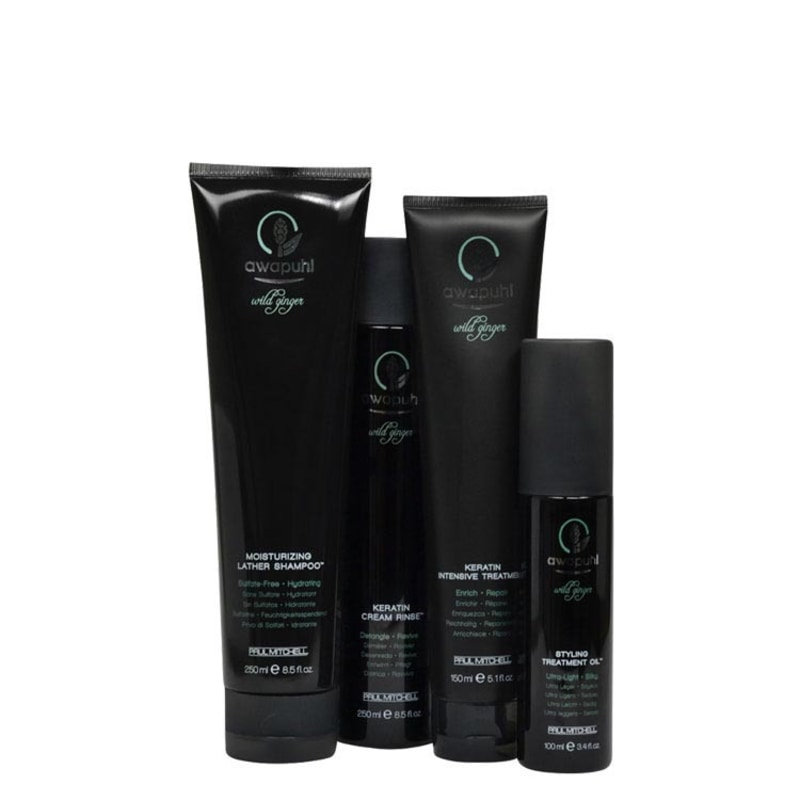 Paul Mitchell Awapuhi Wild Ginger Full Treatment Kit (4 Produtos)