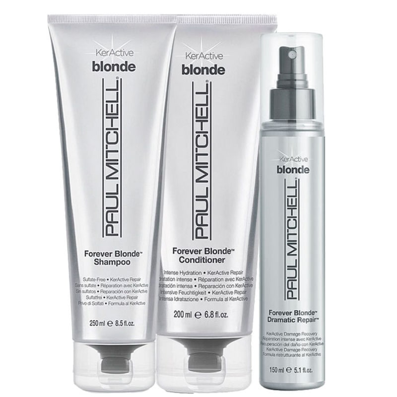 Paul Mitchell Forever Blonde Dramatic Kit (3 Produtos)