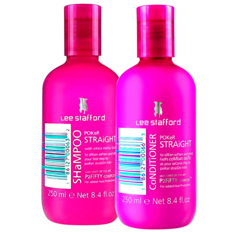 Lee Stafford Poker Straight Cleansing Duo Kit (2 Produtos)