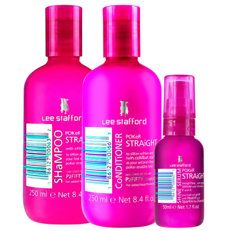 Kit Lee Stafford Poker Straight Cleansing & Shine (3 Produtos)