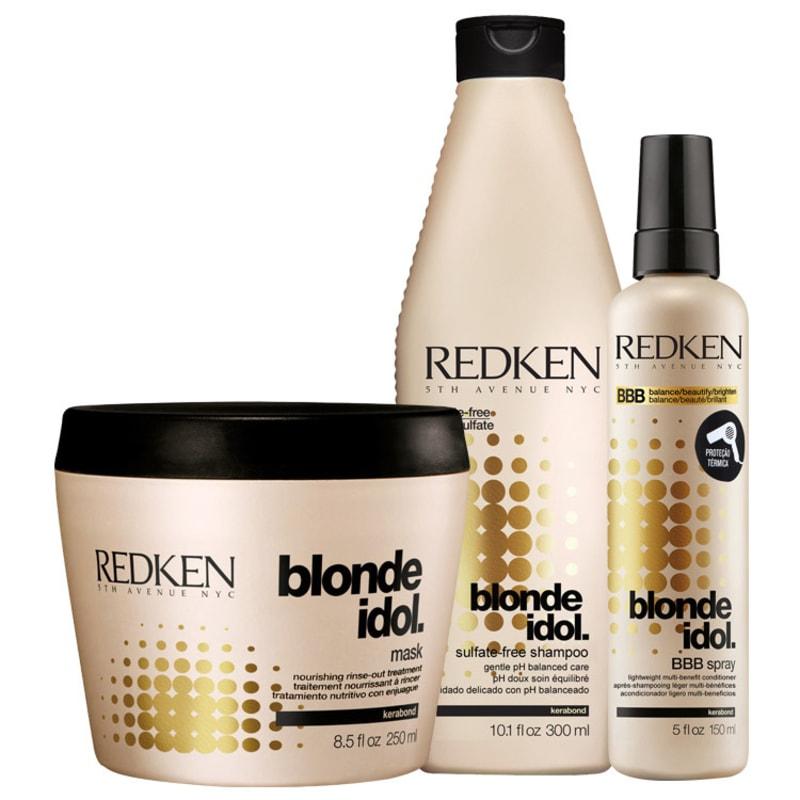 Kit Redken Blonde Idol Multi-Benefit (3 Produtos)