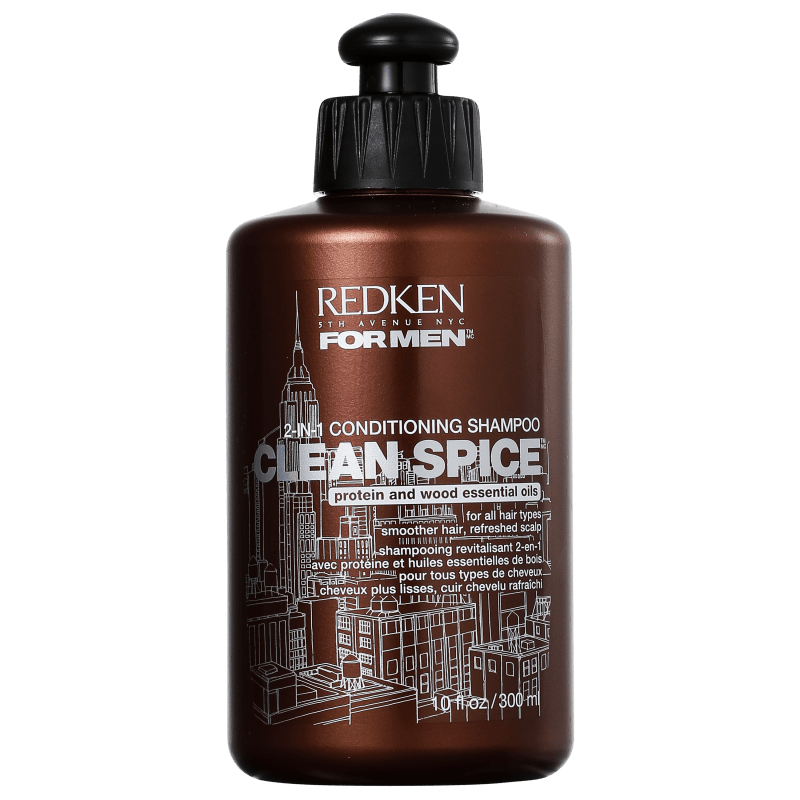 Redken for Men Clean Spice - Shampoo 2Em1 300ml