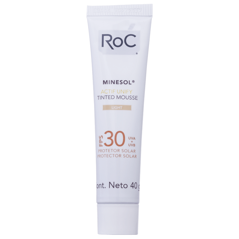 RoC Minesol Actif Unify Tinted Mousse Light FPS 30 - Protetor Solar Facial 40g