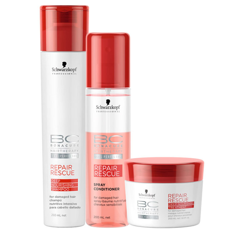 Schwarzkopf Professional BC Bonacure Repair Rescue Deep Nourishing Spray Kit (3 Produtos)
