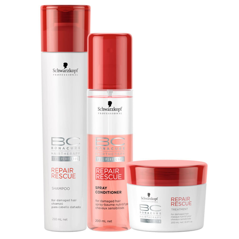 Schwarzkopf Professional BC Bonacure Repair Rescue Spray Kit (3 Produtos)