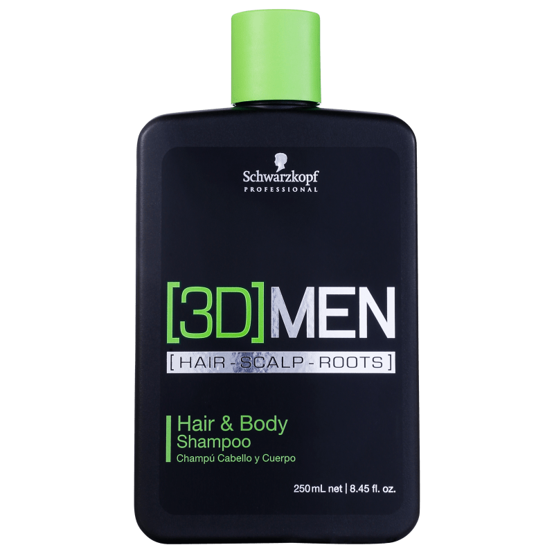Schwarzkopf Professional 3D Men Hair & Body - Shampoo 250ml