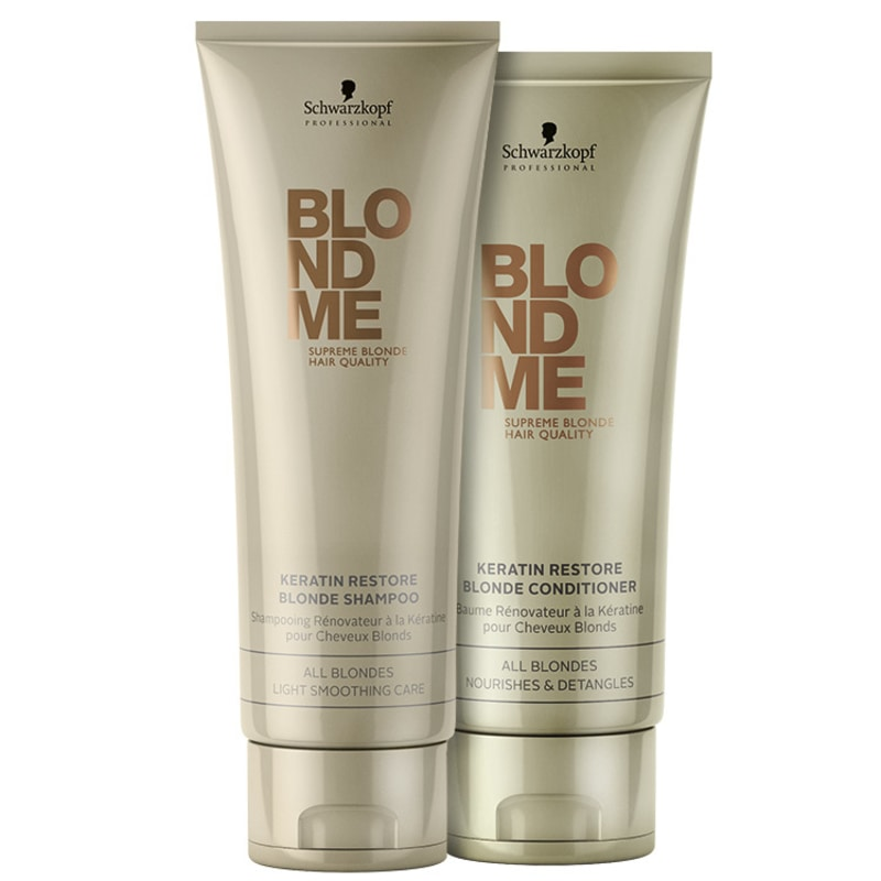 Schwarzkopf Professional Blondme Keratin Restore All Blondes Duo Kit (2 Produtos)