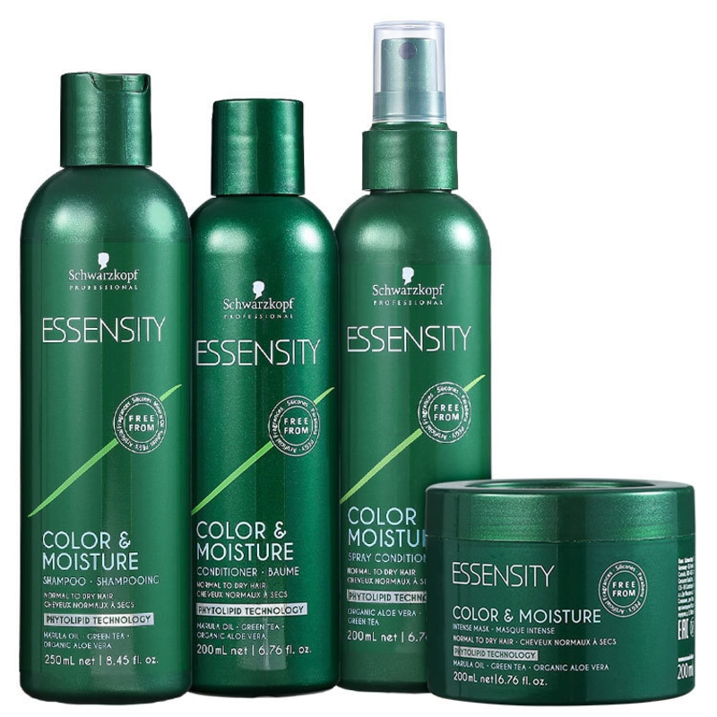 Schwarzkopf Professional Essensity Color & Moisture Spray Kit (4 Produtos)