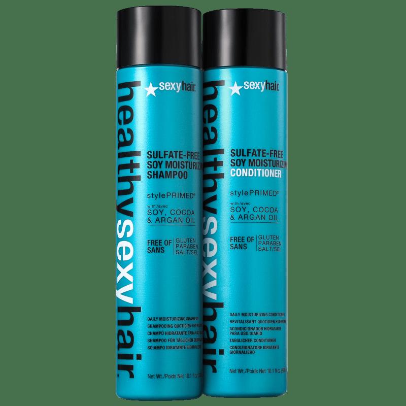 Sexy Hair Healthy Soy Moisturizing Duo Kit (2 Produtos)