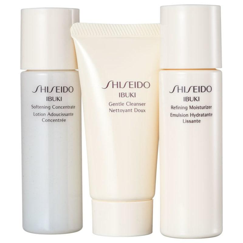 Kit Shiseido Ibuki Starter Ready (3 produtos)