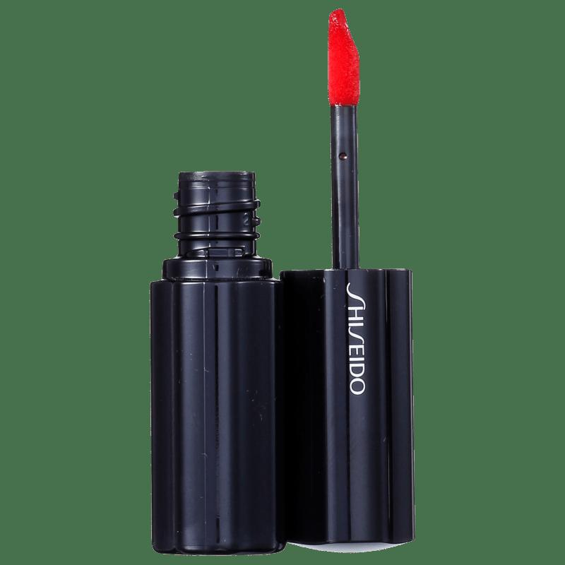 Shiseido Lacquer Rouge RD413 Sanguine - Batom Líquido Espelhado 6ml