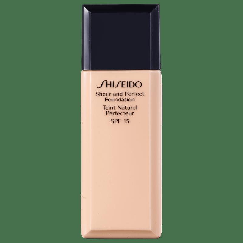 Shiseido Sheer and Perfect Foundation FPS 15 Natural Fair Ivory I40 - Base Líquida 30ml