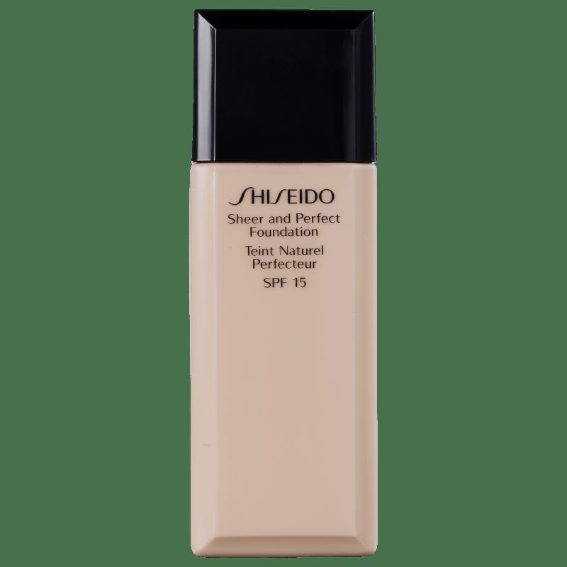 Shiseido Sheer and Perfect Foundation FPS 15 Natural Light Ivory I20 - Base Líquida 30ml