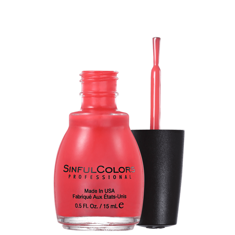 SinfulColors Professional Energetic Red - Esmalte Cremoso 15ml