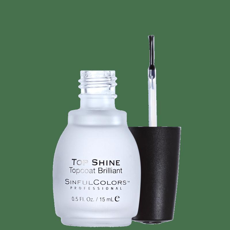 SinfulColors Professional Top Shine Topcoat Brilliant - Finalizador Extrabrilho 15ml