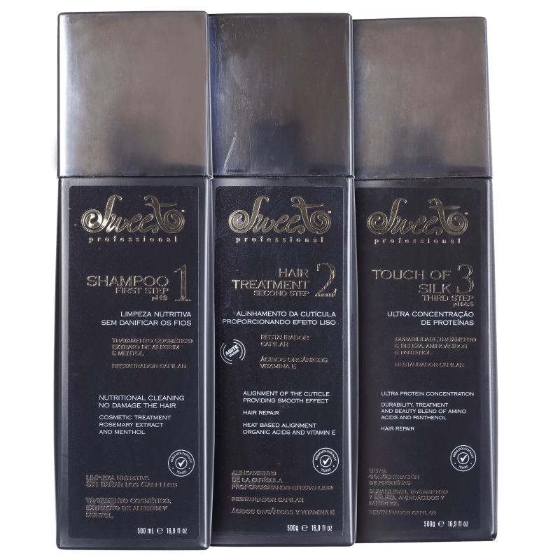 Kit Sweet Hair Lovely Escova (3 Produtos)