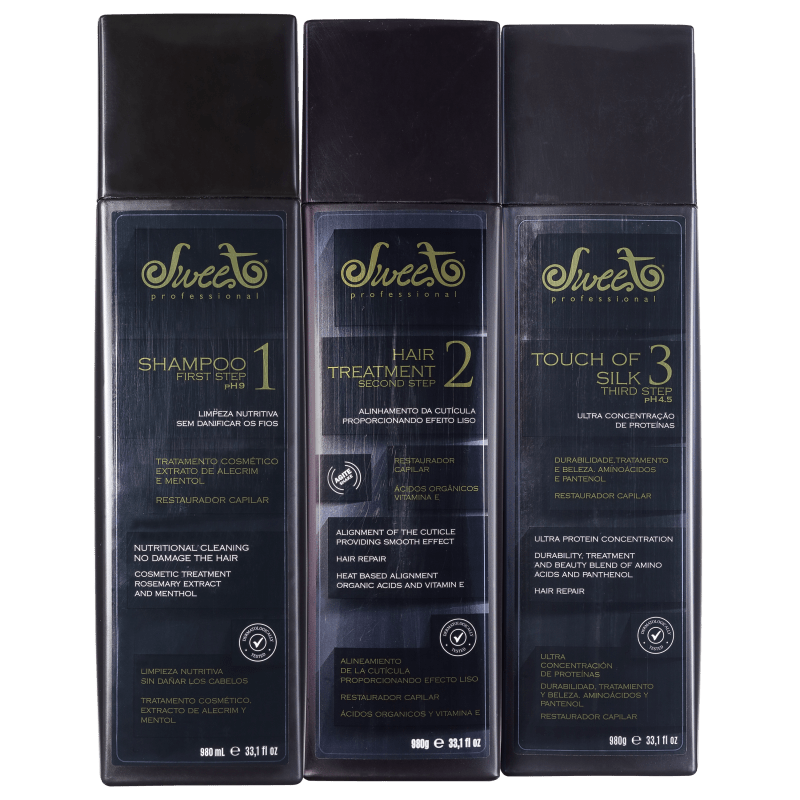 Sweet Hair Escova Lovely Professional Kit (3 Produtos)