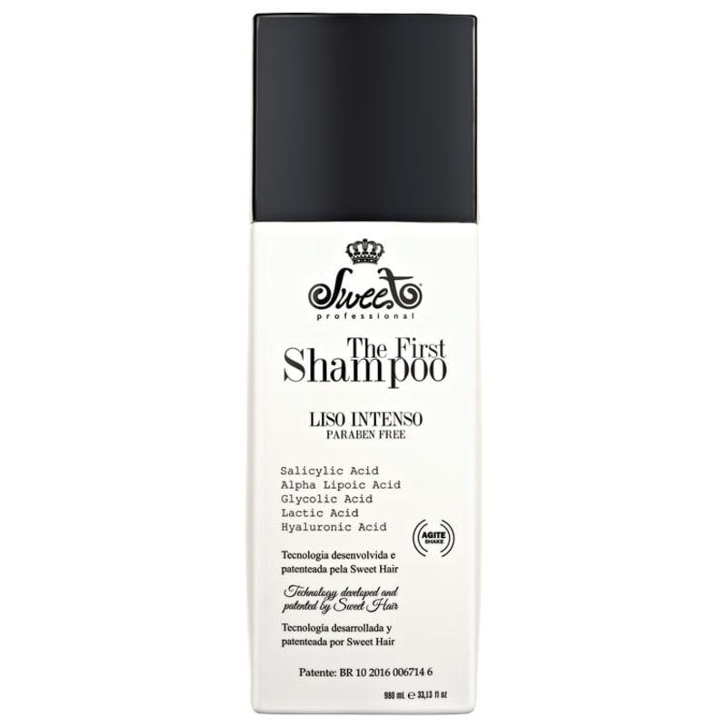 Sweet Hair The First Shampoo Liso Intenso - Shampoo Alisante 980ml