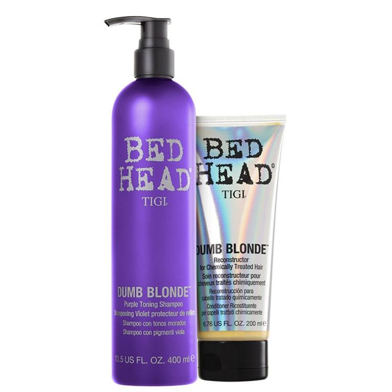 TIGI Bed Head Dumb Blonde Purple Toning Duo Kit (2 Produtos)