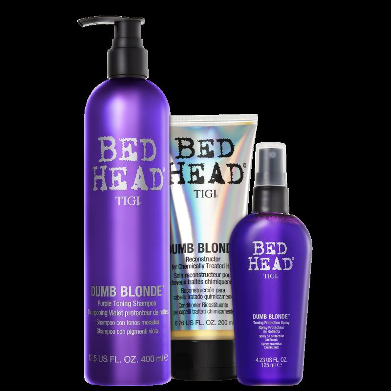 TIGI Bed Head Dumb Blonde Purple Toning Trio Kit (3 Produtos)