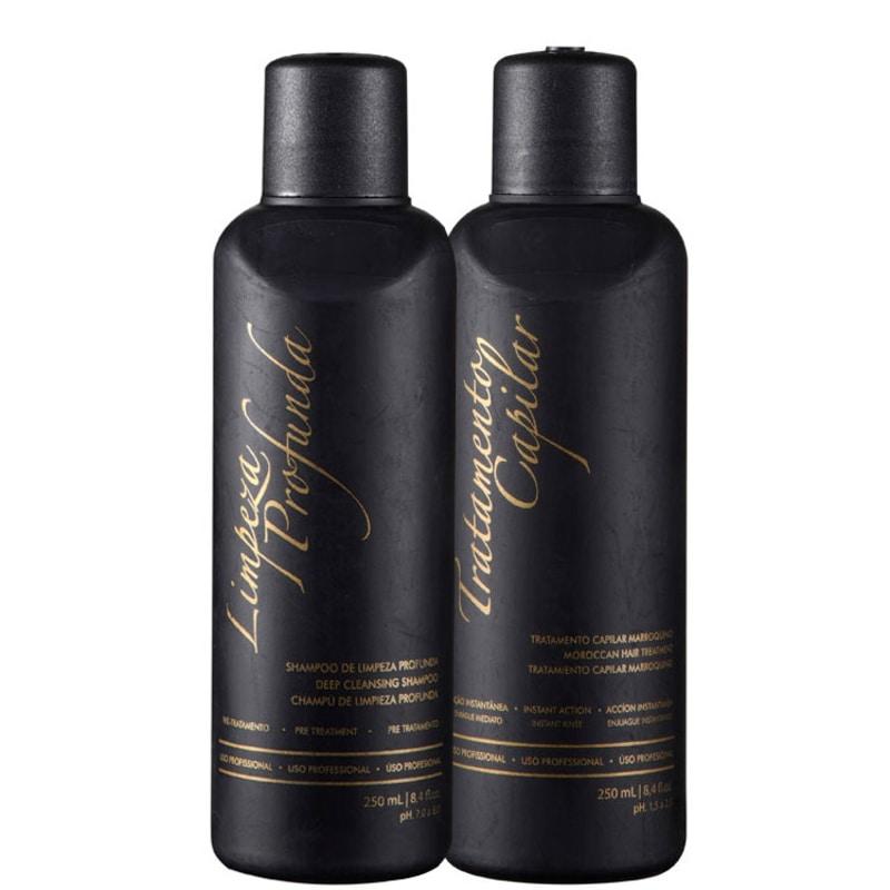G.Hair Tratamento Capilar Marroquino Hair Kit Escova Marroquina (2 Produtos)