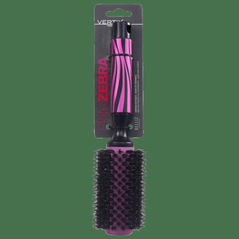 Vertix Pink Zebra Ceramic - Escova de Cerâmica 33mm