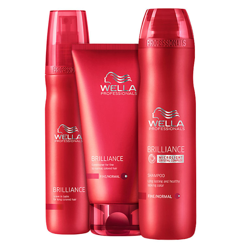 Kit Wella Professionals Brilliance Balm (3 Produtos)