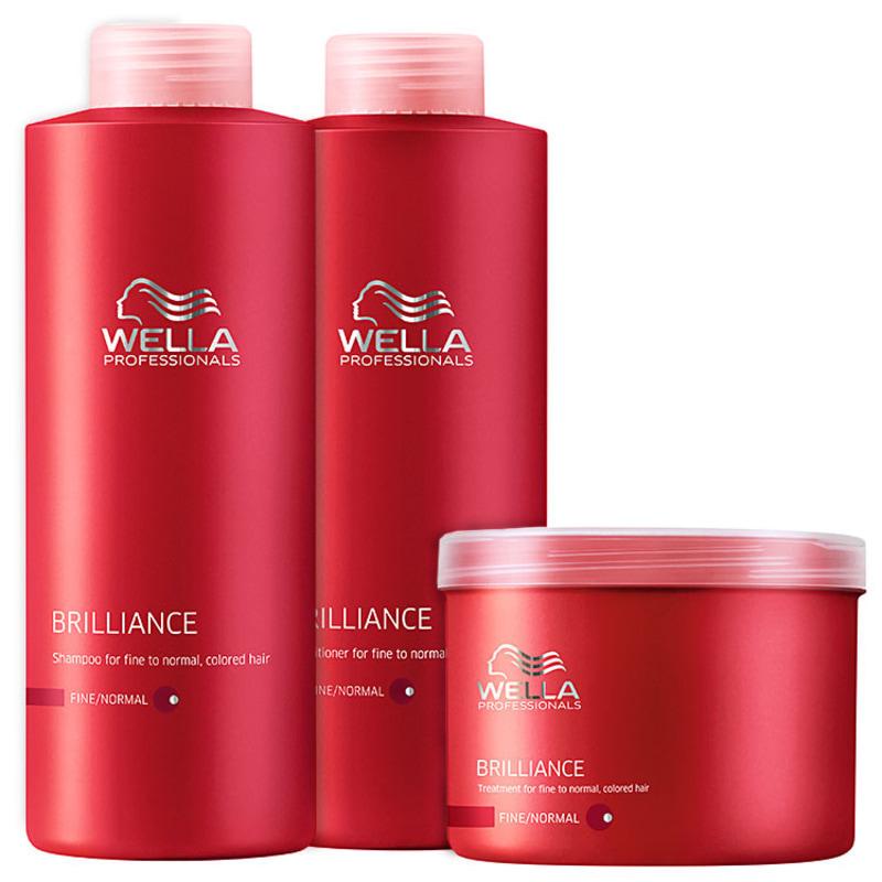 Wella Professionals Brilliance Intense Kit Litro (3 Produtos)