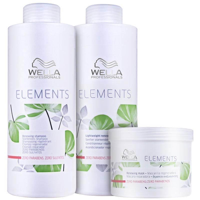 Wella Professionals Elements Renewing Trio Salon Kit (3 Produtos)