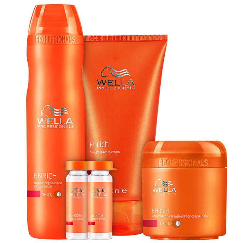 Wella Professionals Escova Hidratação Poderosa Cabelos Grossos Kit (4 Produtos)