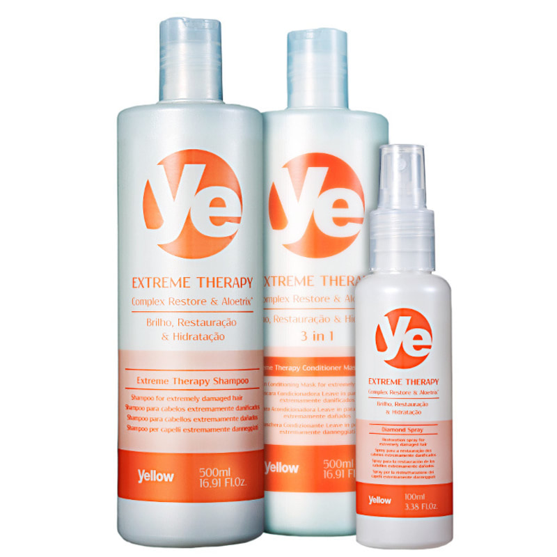 Yellow Ye Extreme Therapy Restoration Kit (3 Produtos)