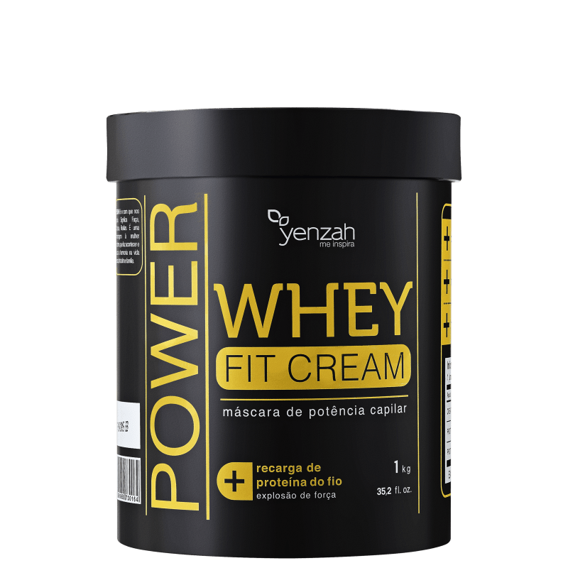 Yenzah Power Whey Fit Cream - Máscara Reconstrutora 1000g