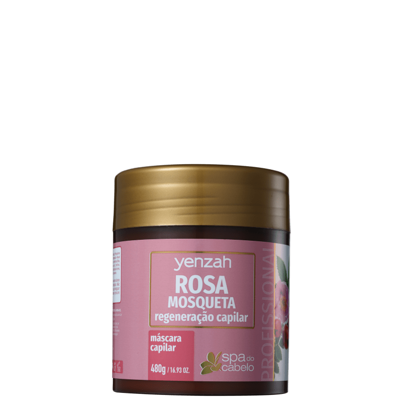 Yenzah SPA dos Cabelos Rosa Mosqueta - Máscara 480g