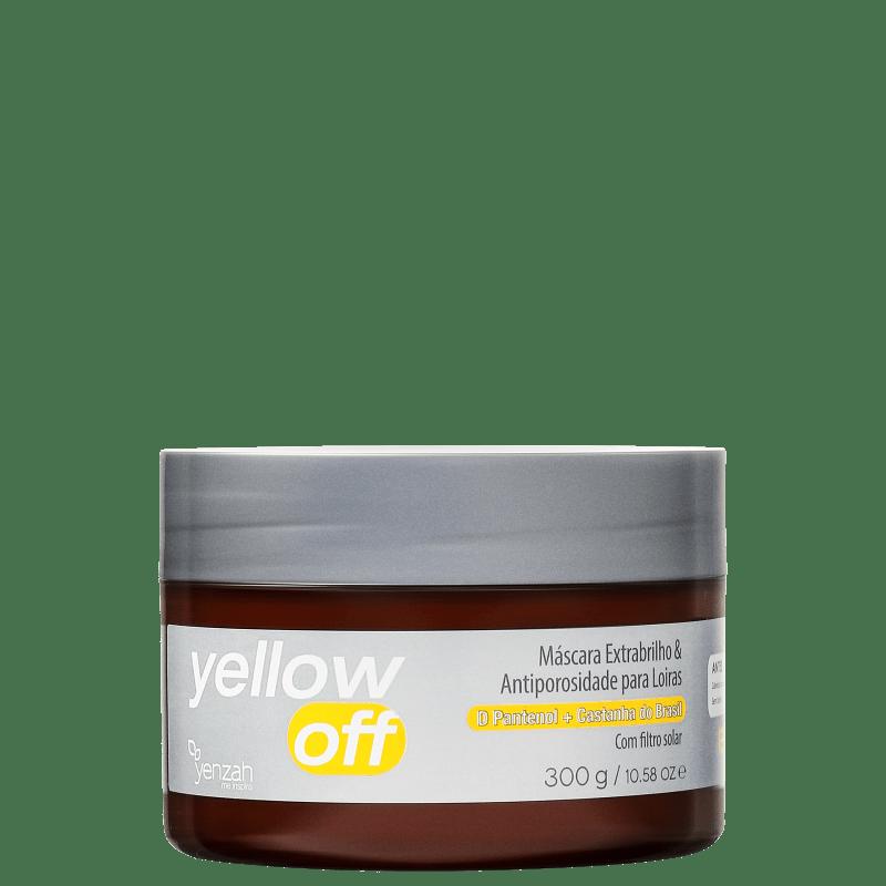 Yenzah Yellow Off Extrabrilho e Antiporosidade - Máscara Capilar 300g