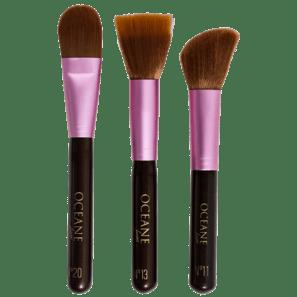 Kit Facial Brushes De Pincéis (3 Produtos)