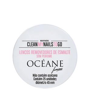 Clean My Nails To Go Sem Perfume - Lenço Removedor De Esmalte (25 Unidades)