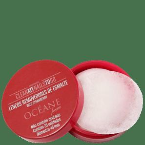 Clean My Nails To Go Wild Strawberry - Lenço Removedor De Esmalte (25 Unidades)