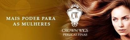 Perucas Crown Wigs de Cabelo Natural